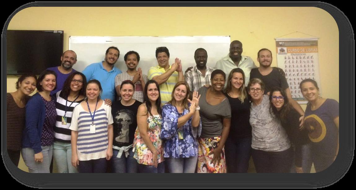Professores de Libras (surdos) do INES